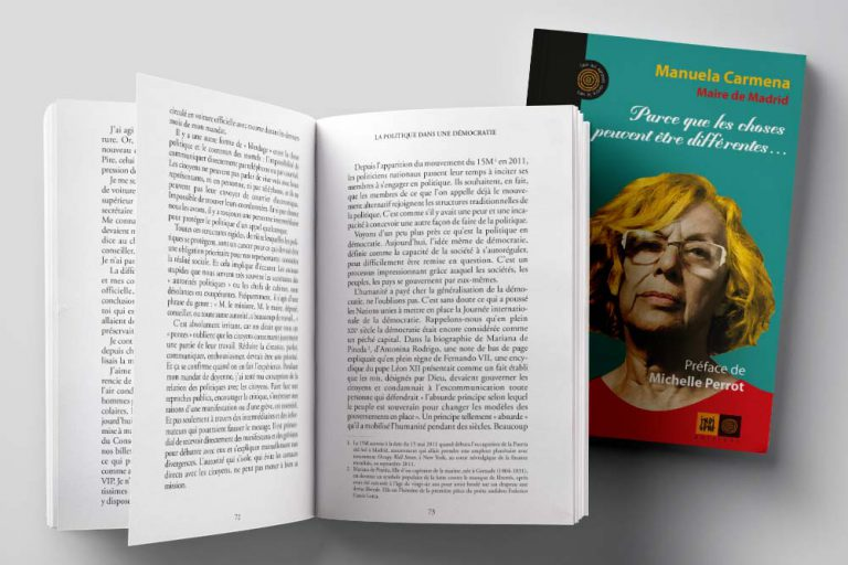 Traduction du livre de Manuela Carmena pour Indigène éditions