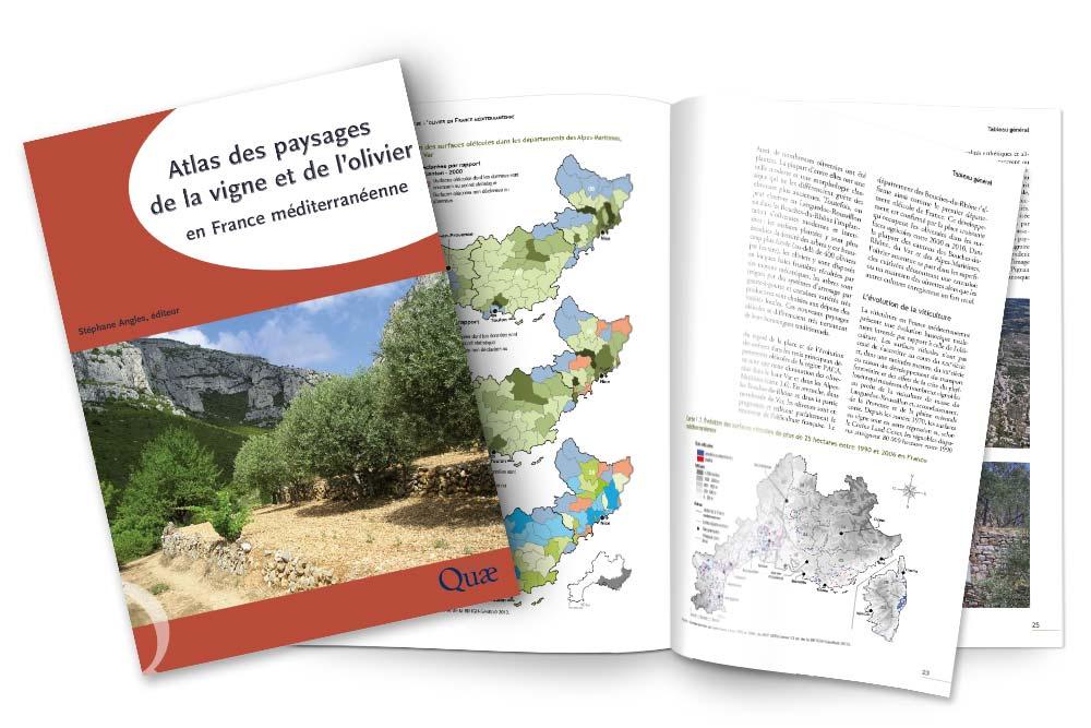 Édition de l'Atlas des paysages de la vigne et de l'olivier pour les éditions Quae