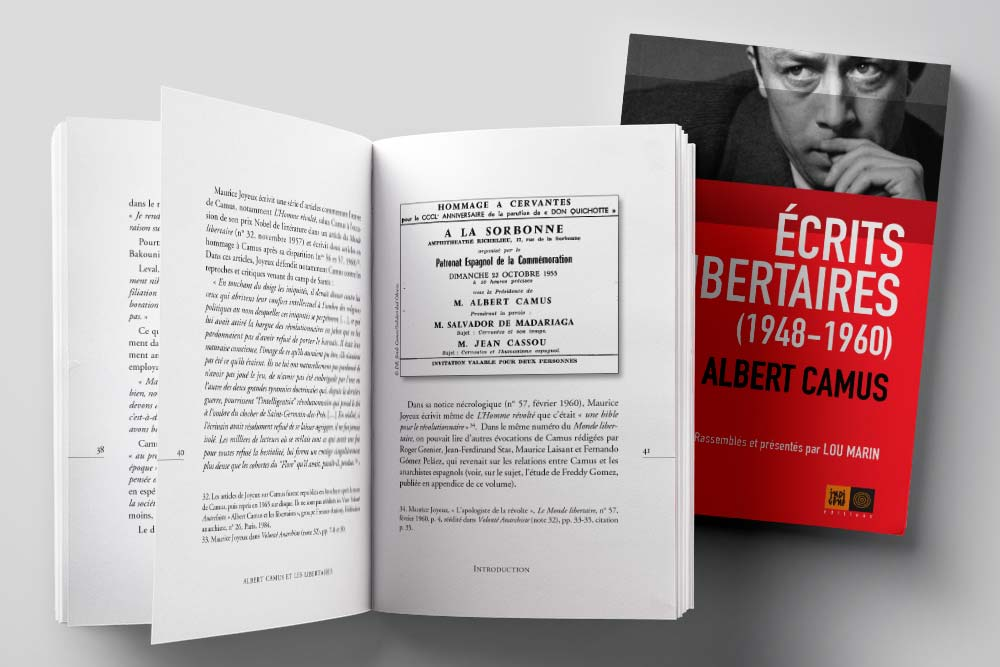 Écrits libertaires, Albert Camus - Indigène éditions