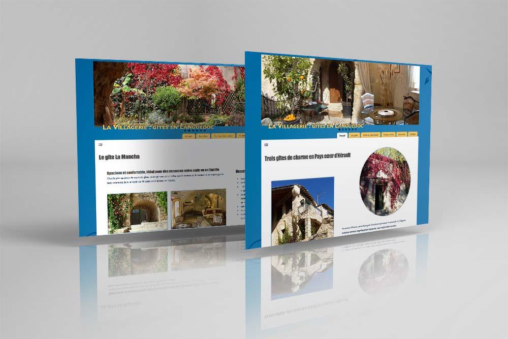 Site Internet des gîtes La Villagerie