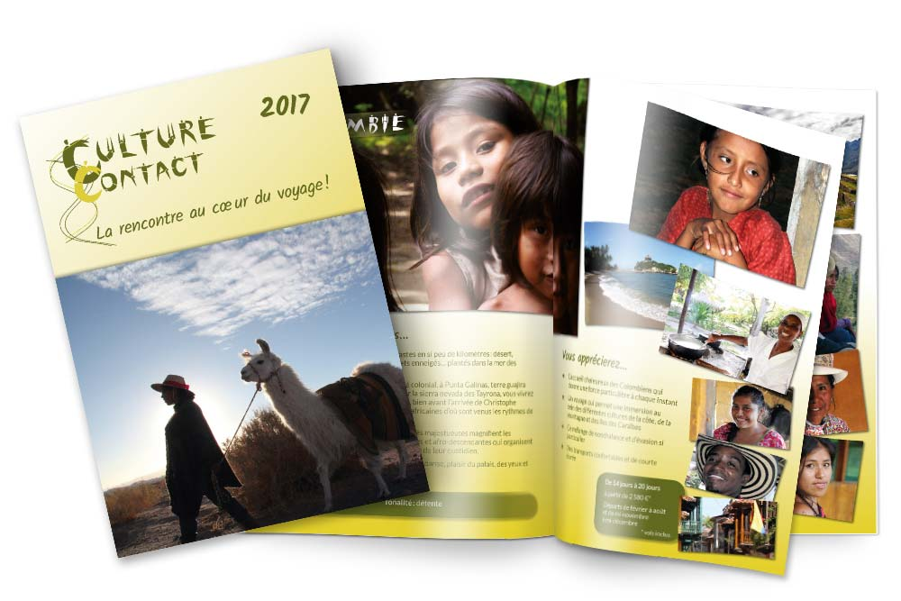Catalogue annuel tourisme équitable Culture Contact